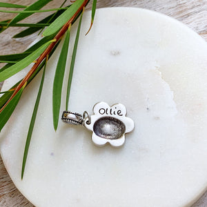 Fingerprint Charm (Daisy) - Silver Magpie Fingerprint Jewellery