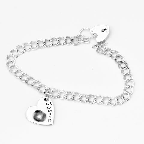 Double Link Fingerprint Bracelet - Silver Magpie Fingerprints