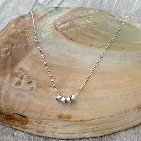 Milestone '40th' Birthday Necklace - Silver Magpie Fingerprint Jewellery
