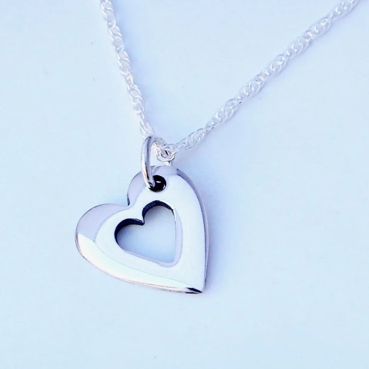 Open Heart Pendant (medium)