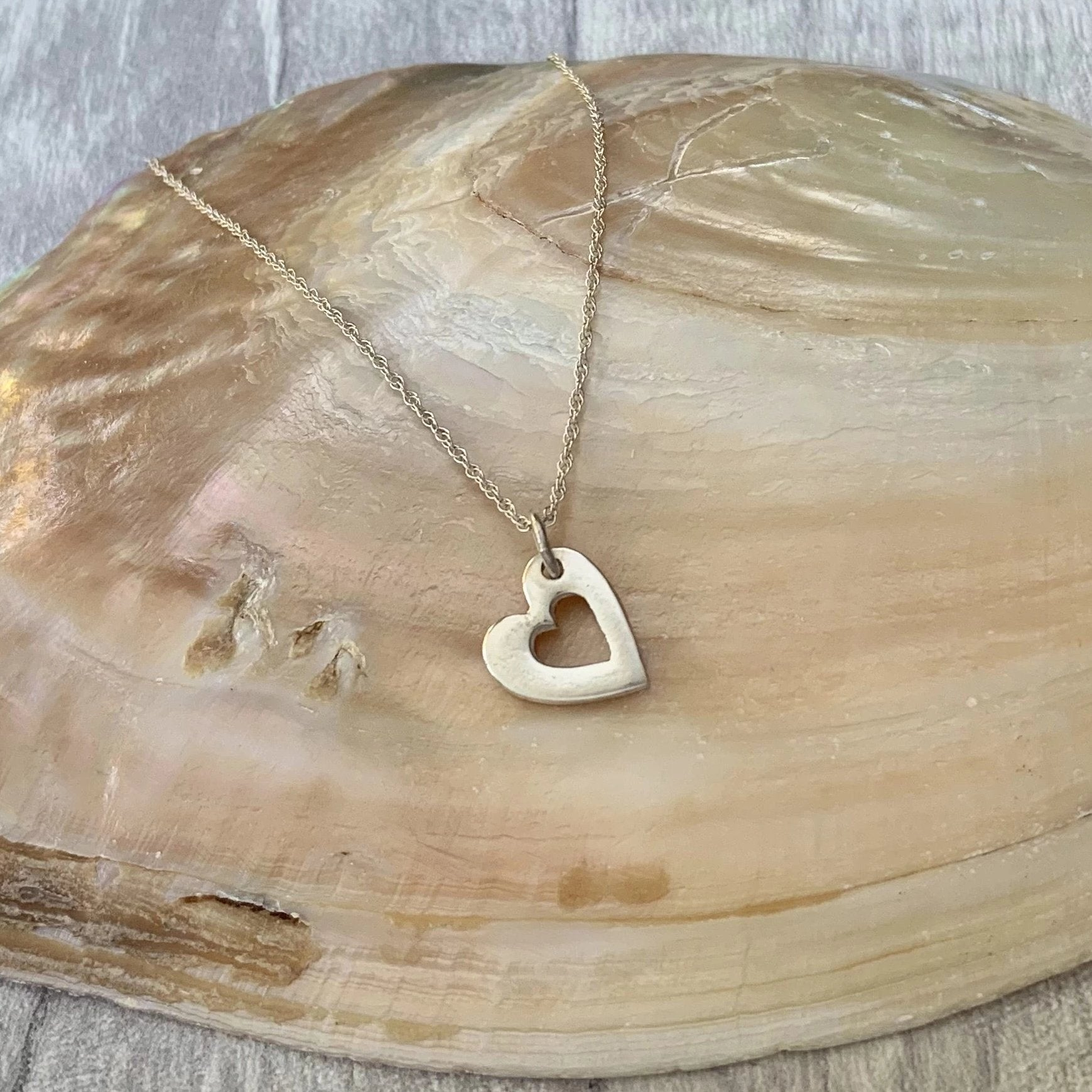 Bridesmaid Mini Heart Necklace - Silver Magpie Fingerprint Jewellery