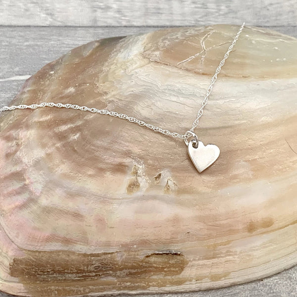 Bridesmaid Pretty Heart Necklace - Silver Magpie Fingerprint Jewellery