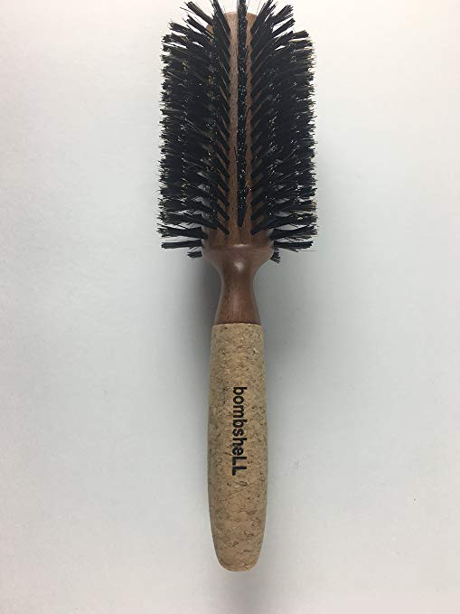 bombsheLL Blowout Sustainable Wood, Cork Handle, Boar Bristle Brush, XLarge 3.25