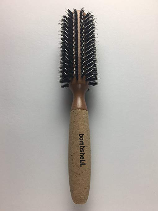 bombsheLL Blowout Sustainable Wood, Cork Handle, Boar Bristle Brush, Medium 2