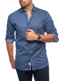 Blue Diamante Sport Shirt