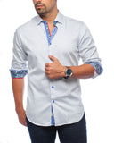 White Diamante Sport Shirt