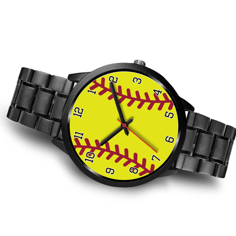 Image of Men's Black Softball Watch