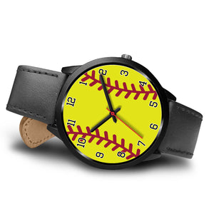 Women's Black Softball Watch
