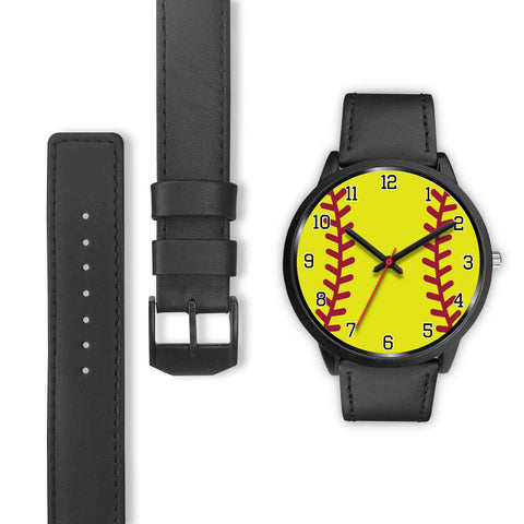 Image of Women's Black Softball Watch