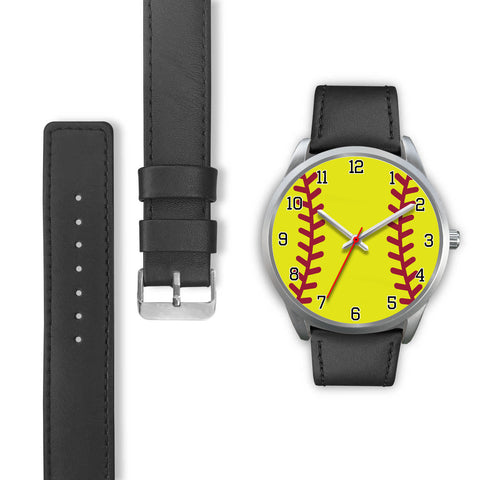 Image of Men's Silver Softball Watch