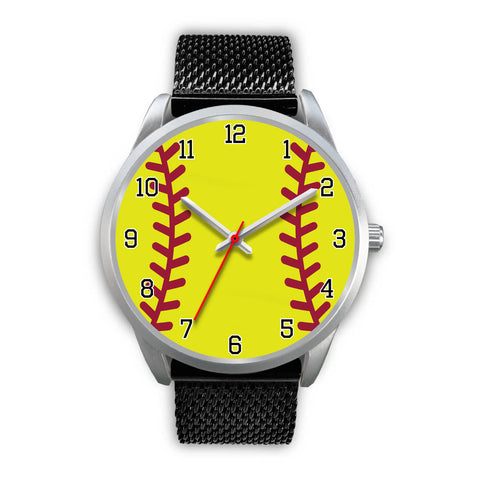 Men's Silver Softball Watch