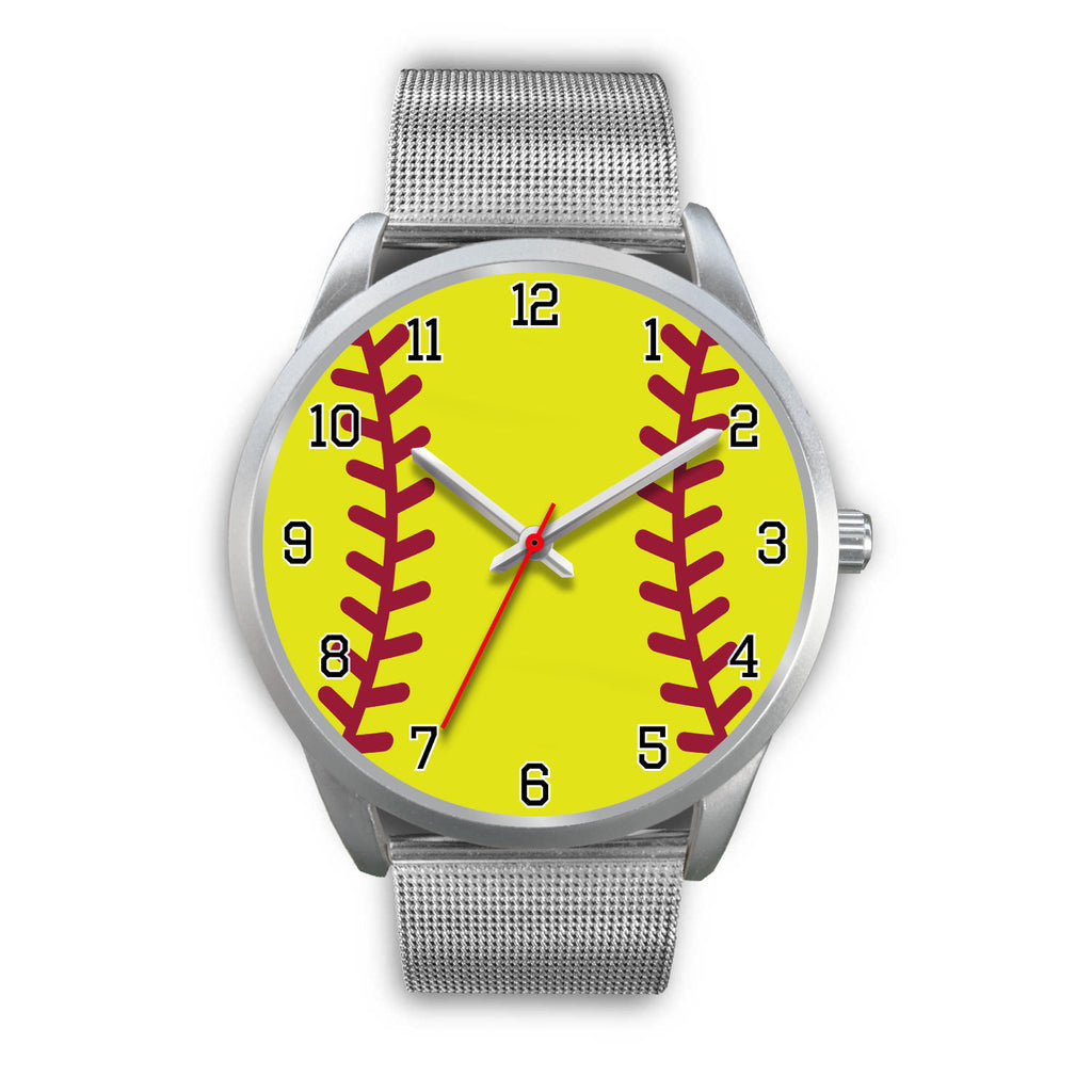Women's Silver Softball Watch
