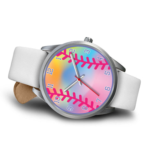 Image of Girls Rainbow Softball Watch