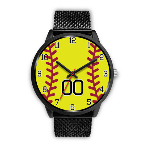 Image of Men's Black Softball Watch - 00
