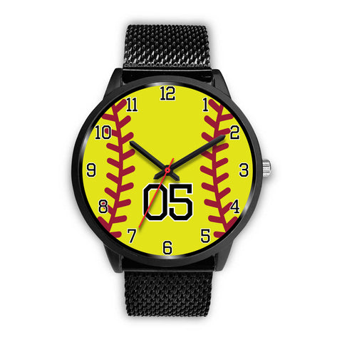 Men's black softball watch - 05