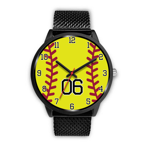 Image of Men's black softball watch - 06