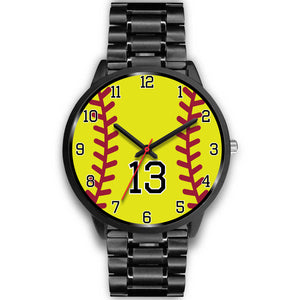 Men's black softball watch - 13
