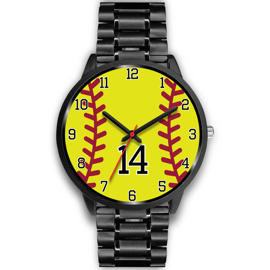 Men's black softball watch - 14
