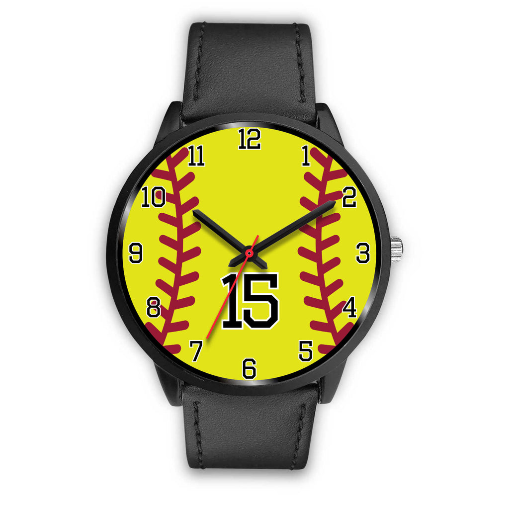 Men's black softball watch - 15