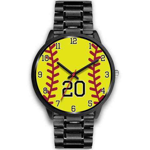 Image of Men's black softball watch - 20