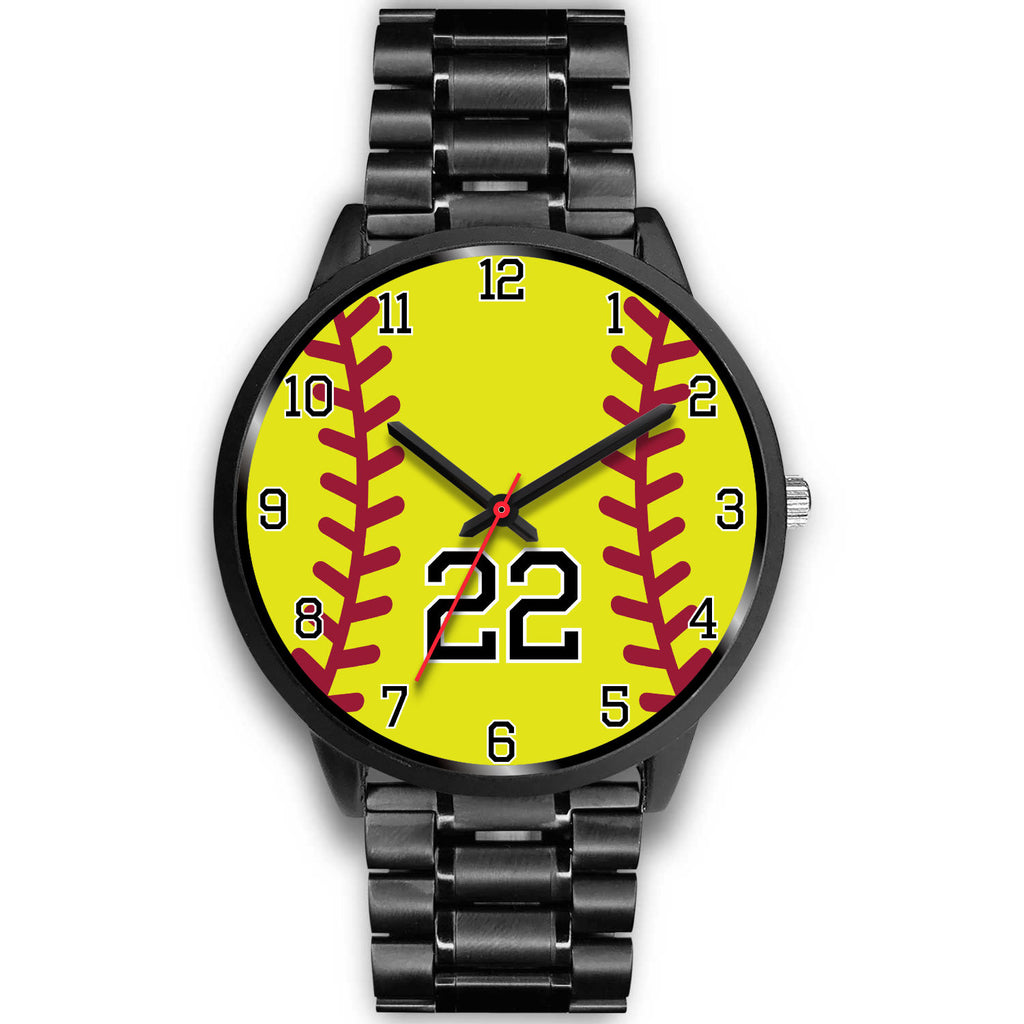 Men's black softball watch - 22