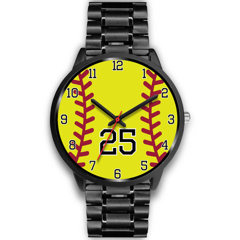 Image of Men's black softball watch - 25