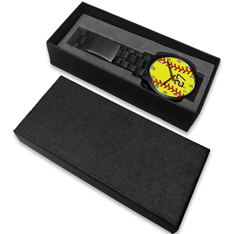Image of Men's black softball watch - 27