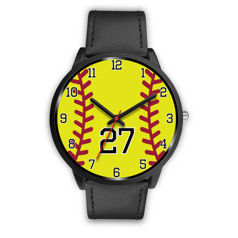 Men's black softball watch - 27