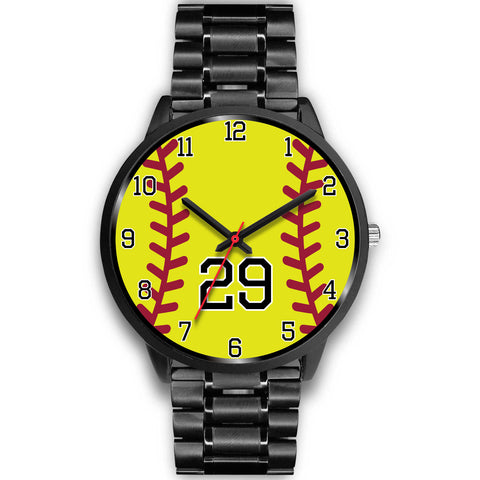 Image of Men's black softball watch - 29