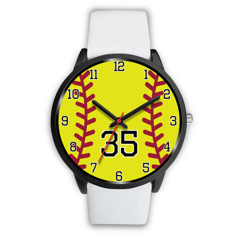 Men's black softball watch - 35