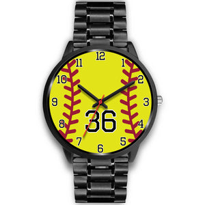 Men's black softball watch - 36