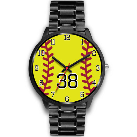 Image of Men's black softball watch - 38