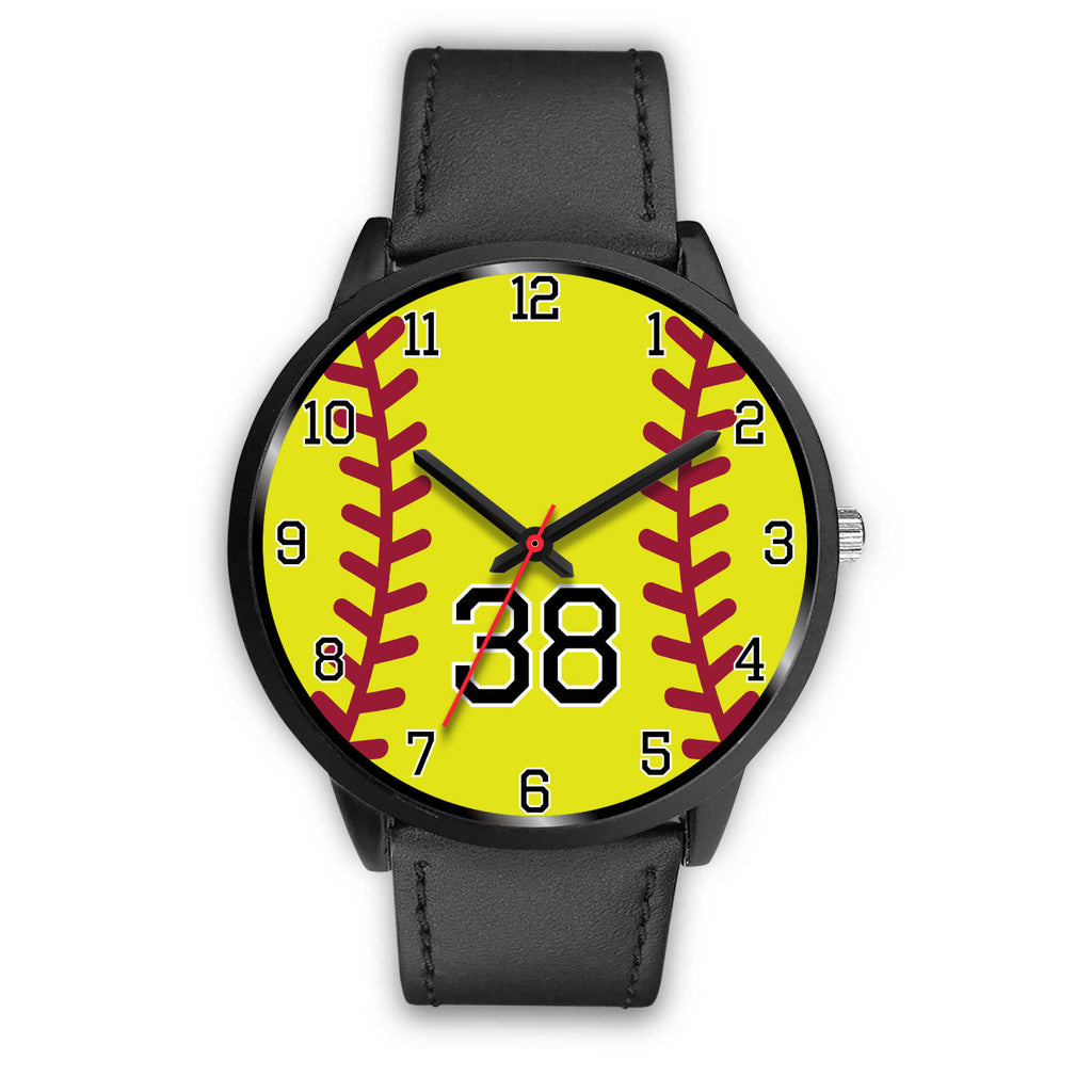 Men's black softball watch - 38