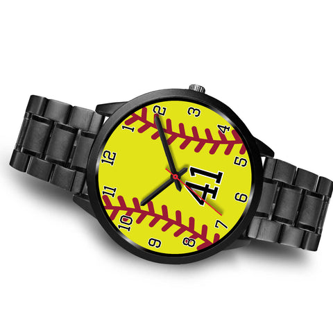 Image of Men's black softball watch - 41