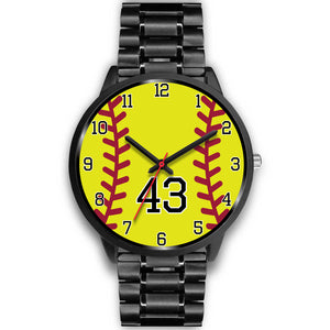 Men's black softball watch - 43