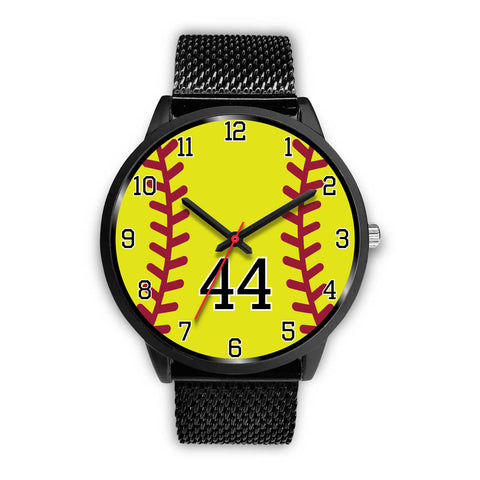 Men's black softball watch - 44