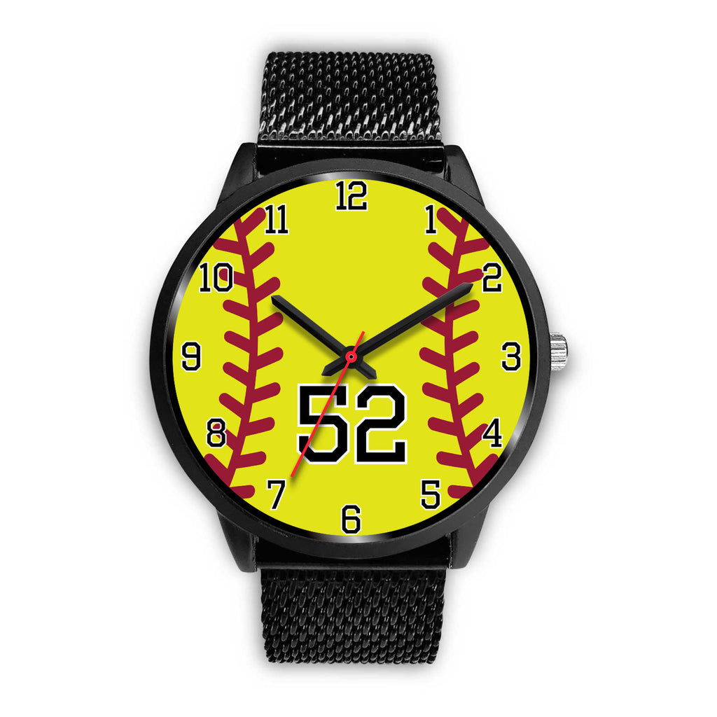 Men's black softball watch - 52