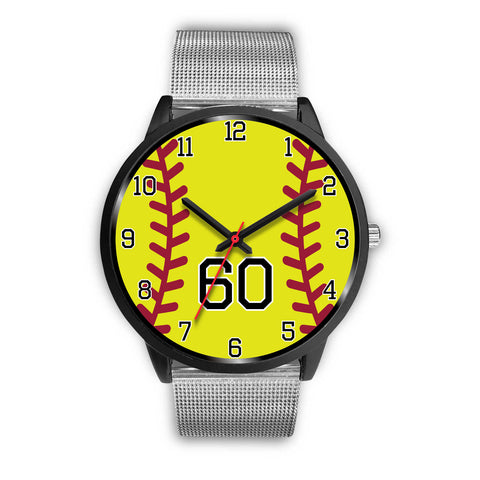 Image of Men's black softball watch - 60