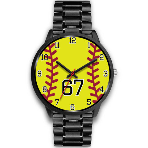 Men's black softball watch - 67