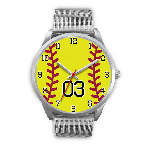 Men's silver softball watch - 03