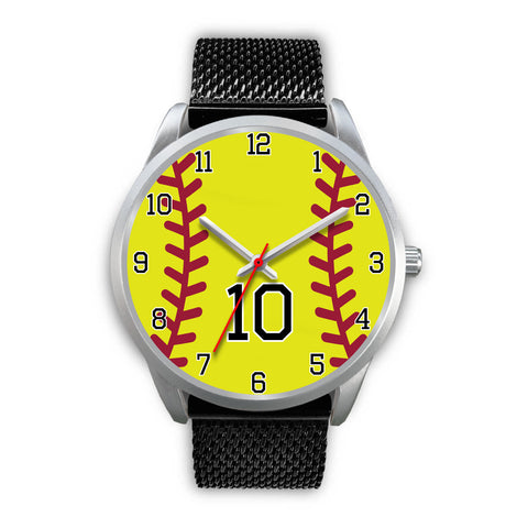 Image of Men's silver softball watch - 10