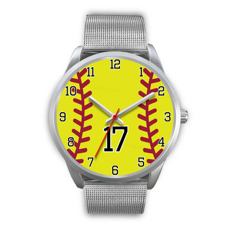 Men's silver softball watch - 17