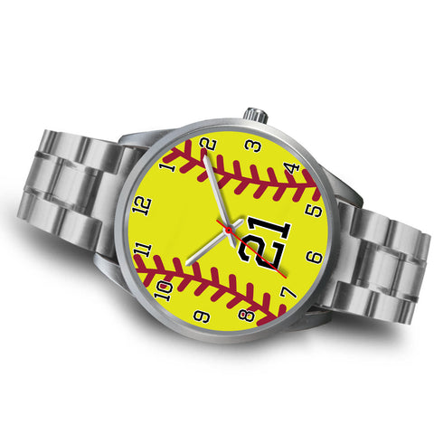 Men's silver softball watch - 21