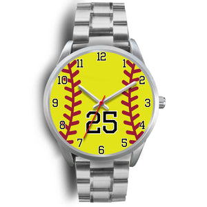 Men's silver softball watch - 25