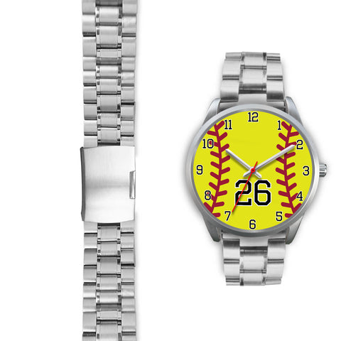 Men's silver softball watch - 26