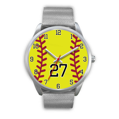 Image of Men's silver softball watch - 27