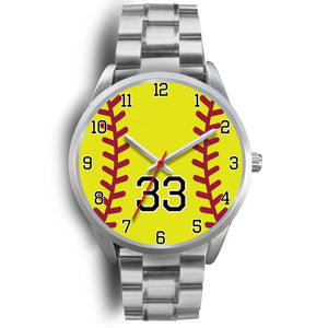 Men's silver softball watch - 33