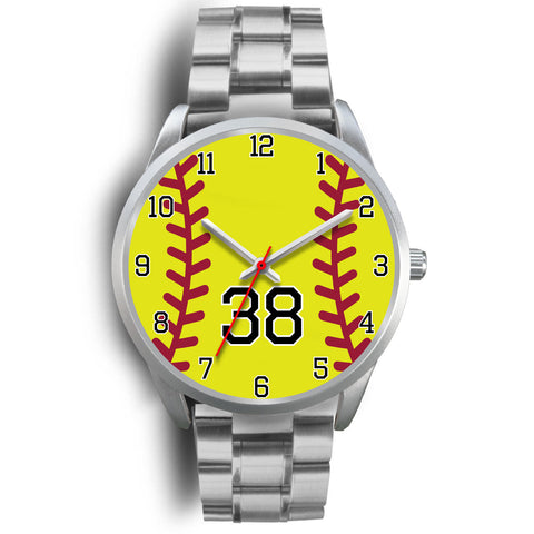 Image of Men's silver softball watch - 38