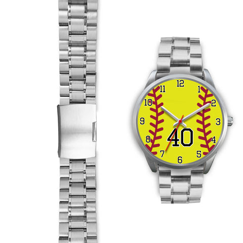 Men's silver softball watch - 40