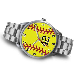 Men's silver softball watch - 42